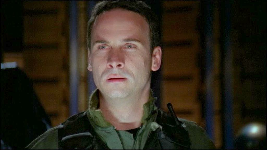 "Major Paul Davis in Season Six's ""Descent"""