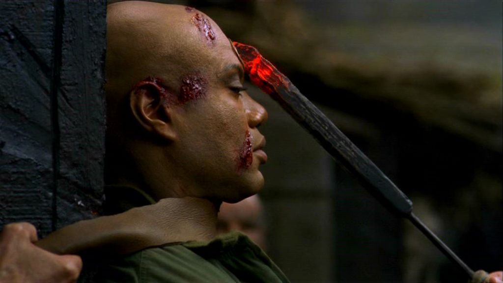 Teal'c's tattoo is seen as a mark of the Devil