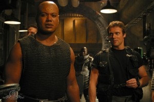 Christopher Judge and Michael Shanks in 'Homecoming'