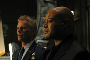 Teal'c at the memorial service in 'Heroes'