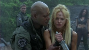 Teal'c and Ishta in 'Birthright'