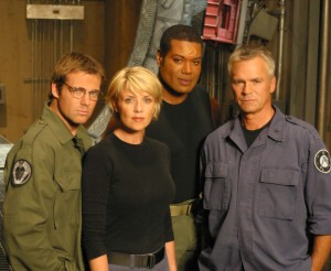 The cast of Stargate SG-1 in Season Eight