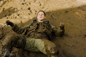 Cameron Mitchell in the mud in 'Camelot'