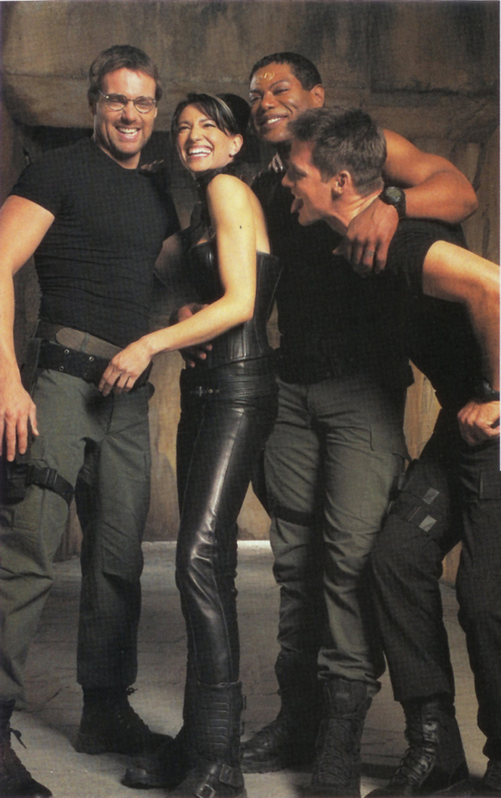 Michael Shanks, Claudia Black, Christopher Judge, and Ben Browder play behind-the-scenes