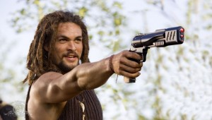Ronon Dex with his gun in 'Condemned'