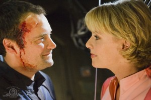 Rodney McKay and his imaginary Samantha Carter in 'Grace Under Pressure'