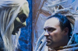 Rodney McKay faces a Wraith in 'Allies'