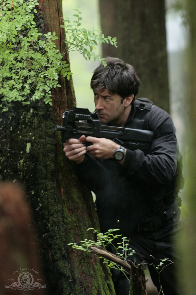 John Sheppard in action in 'Phantoms'