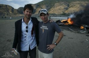 "Cooper and Flanigan on set of ""Vegas"""