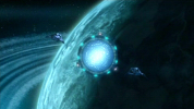 Wraith's Homeworld with Orbiting Stargate